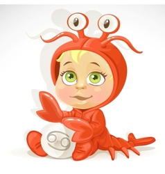 Baby zodiac - sign Cancer vector