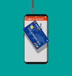 bank card and fishing hook vector image