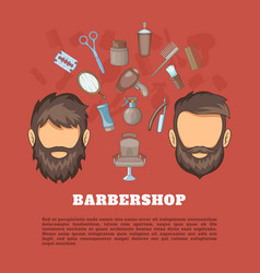 barbershop tools concept cartoon style vector image