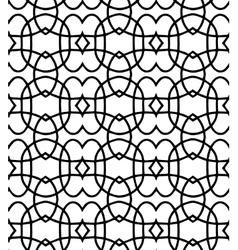 black pattern on white background vector image