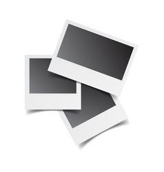 blank retro photo frames on white isolated vector image
