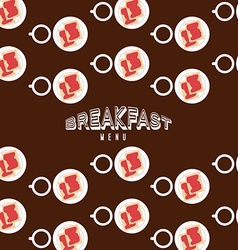 Breakfast menu design vector