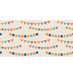 Bunting party flags seamless pattern vector image