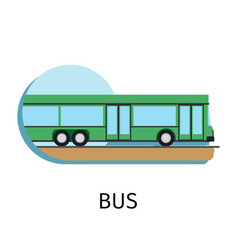 bus in flat style vector image