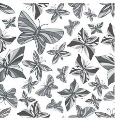 butterflies seamless decorative pattern vector image