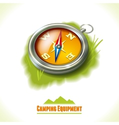 Camping symbol compass vector image