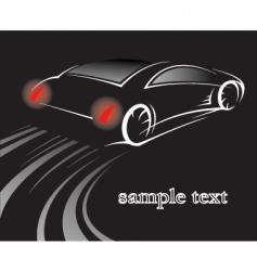Car on black vector