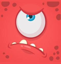 Cartoon angry monster face avatar vector