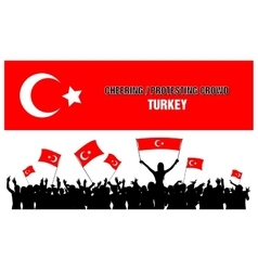 Cheering or Protesting Crowd Turkey vector image