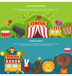 Circus entertainment horizontal banner vector