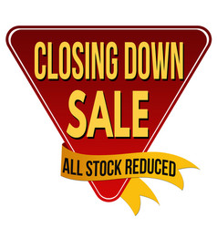 closing down sale label or sticker vector image