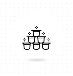 Coffee capsule icon vector