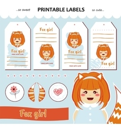 Collection printable gift tags labels vector