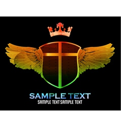 colorful emblem vector image