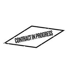 Contract in progress rubber stamp vector
