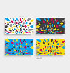 Cover design template abstract background 3d vector