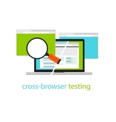 Cross browser testing web software development vector