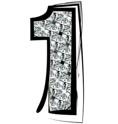 Diamond Font number 1 vector image