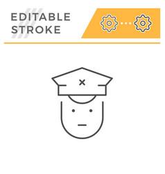 driver line icon vector image