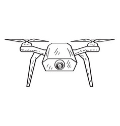 Drone toy sketch vector