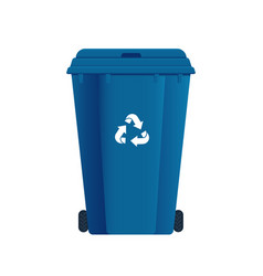 Dumpster or trash can sorting garbage recycle vector