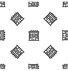 eco solar house pattern seamless vector image