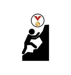 Extreme sport avatar climbing icon vector