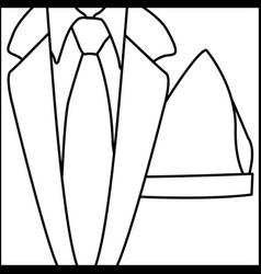 Figure elegant suit with tie icon vector