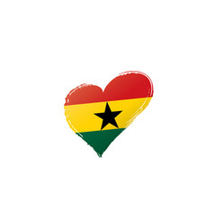 Ghana flag on a white vector