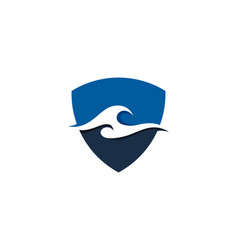 guard wave logo icon design vector image