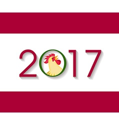 happy new year 2017 with the rooster design for vector