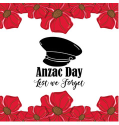Hat soldier to anzac day war vector