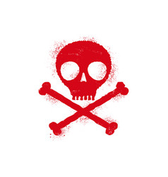 Icon skull with blood drops vector