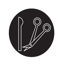 knife and Scissors Doctor icon vector image