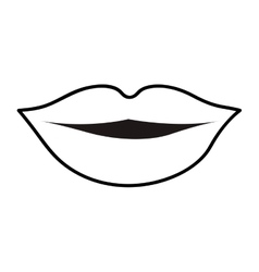 lips cartoon icon image vector image