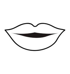 Lips cartoon icon image vector