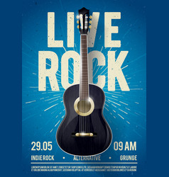 Live classic rock music poster template vector