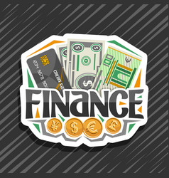 logo for finance vector image