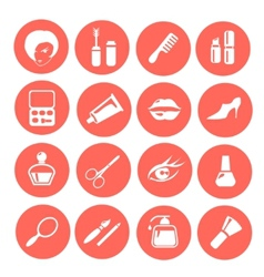 Make up icon set vector