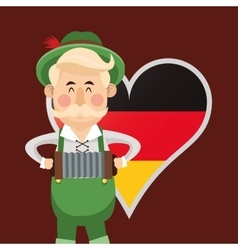 man germany oktoberfest beer icons image vector image