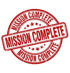 mission complete stamp vector image