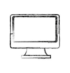monitor screen computer device wireless vector image