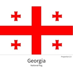 National flag of Georgia with correct proportions vector