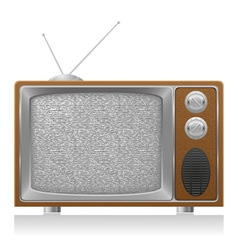 old tv 02 vector image