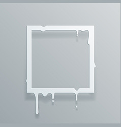 paper 3d flowing art flux square drop leak vector image