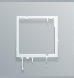 paper 3d flowing art flux square drop leak vector image