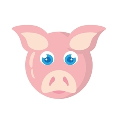 pig animal farm isolated icon vector image
