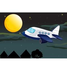 Plane Night flying vector