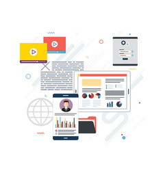 project management and application development vector image