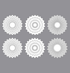 radial contour elements with distorted decorative vector image